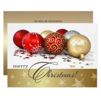 クリスマスのつまらないもののデザインのクリスマスのパーティの招待状 カード