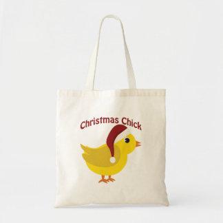 クリスマスのひよこ トートバッグ