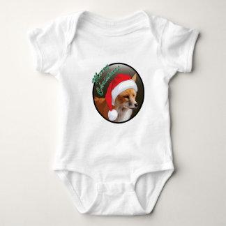 クリスマスのアカギツネ-赤ん坊のジャージーのボディスーツ ベビーボディスーツ