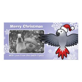 クリスマスのアフリカ灰色/アマゾン/オウム カード