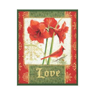 クリスマスのアマリリス愛のための家 キャンバスプリント