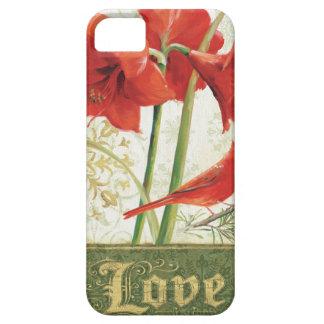 クリスマスのアマリリス愛のための家 iPhone SE/5/5s ケース