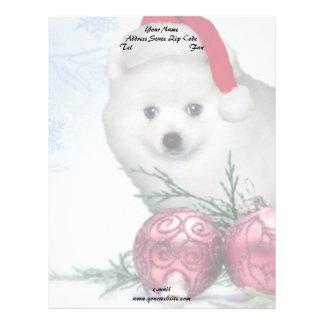 クリスマスのアメリカのエスキモーの子犬 レターヘッド