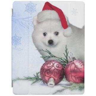 クリスマスのアメリカのエスキモー犬 iPadスマートカバー