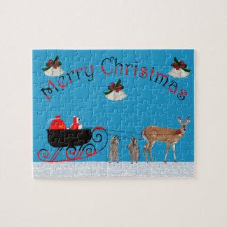 クリスマスのアライグマのジグソーパズル ジグソーパズル