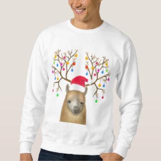 クリスマスのアルパカのスエットシャツ スウェットシャツ