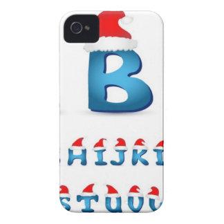 クリスマスのアルファベットのデザイン iPhone 4 Case-Mate ケース