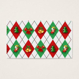 クリスマスのアーガイル 名刺