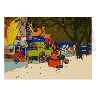 クリスマスのアールデコの挨拶状 カード