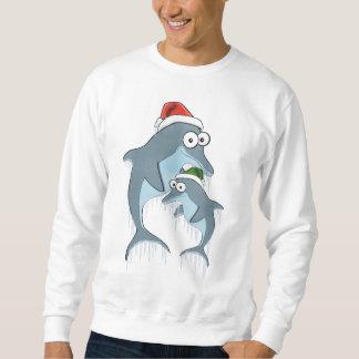 クリスマスのイルカのワイシャツ スウェットシャツ