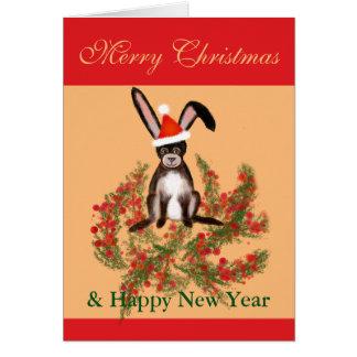 クリスマスのウサギ カード