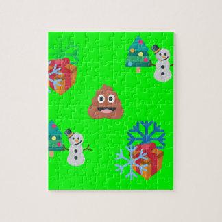 クリスマスのウンチのemoji ジグソーパズル