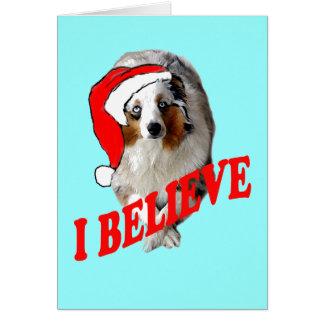クリスマスのオーストラリア人の羊飼い カード