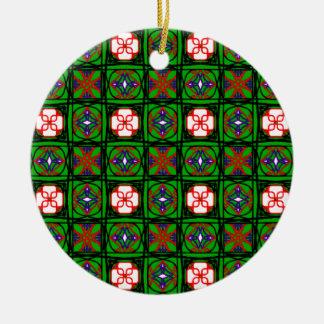 クリスマスのオーナメントの悪賢い織物パターン セラミックオーナメント