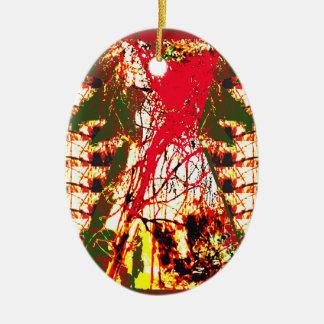 クリスマスのオーナメントの抽象芸術のカラフルな輝き セラミックオーナメント