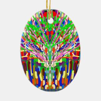 クリスマスのオーナメントの眼識の火木の抽象芸術DIY セラミックオーナメント