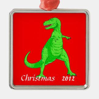 クリスマスのオーナメントのTレックス メタルオーナメント