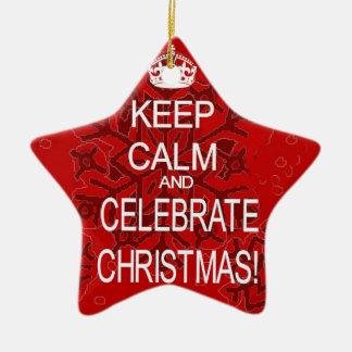 クリスマスのオーナメントを祝うために平静を保って下さい セラミックオーナメント