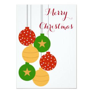 クリスマスのオーナメントカード カード