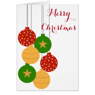 クリスマスのオーナメントカード グリーティングカード