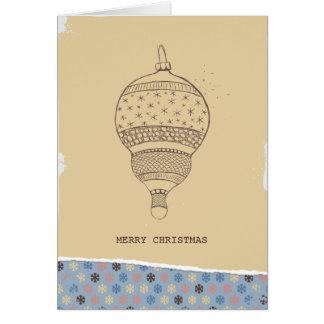 クリスマスのオーナメント-ぼろぼろの上品 カード
