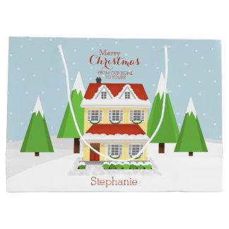 クリスマスのオープンハウス ラージペーパーバッグ