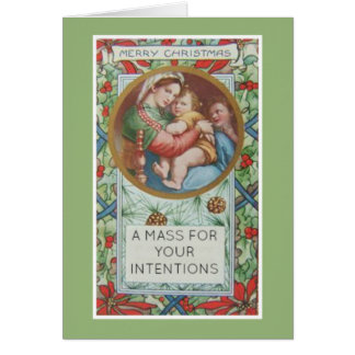 クリスマスのカトリック教の多くの提供カード カード