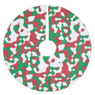 クリスマスのカムフラージュ ブラッシュドポリエステルツリースカート