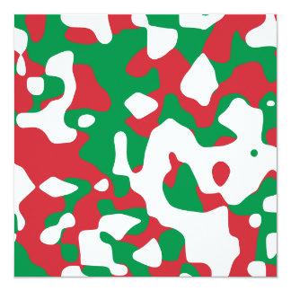 クリスマスのカムフラージュ 13.3 スクエアインビテーションカード