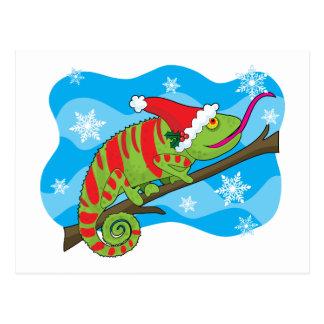 クリスマスのカメレオン ポストカード
