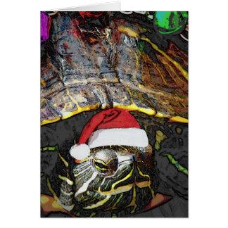 クリスマスのカメ グリーティングカード