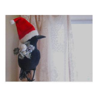 クリスマスのカラスの郵便はがき はがき