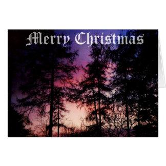 クリスマスのカラマツ カード