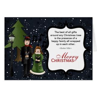 クリスマスのキャロル カード
