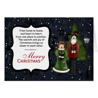 クリスマスのキャロル グリーティングカード