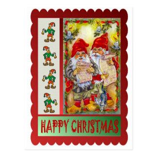クリスマスのキャロル ポストカード