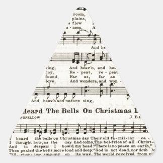 クリスマスのキャロル: 世界への喜び 三角形シール