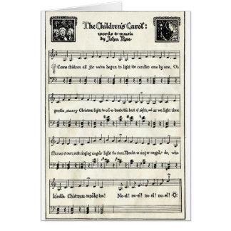 クリスマスのキャロル: 子供のキャロル グリーティングカード