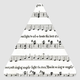 クリスマスのキャロル: 子供のキャロル 三角形シール