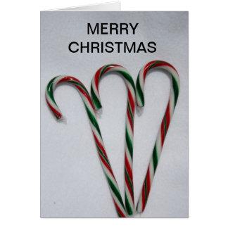 クリスマスのキャンディ・ケーンのクリスマスカード カード