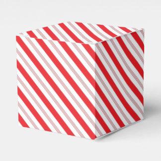 クリスマスのキャンディ・ケーンのストライプのなギフト用の箱 フェイバーボックス