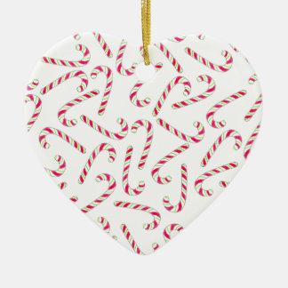 クリスマスのキャンディ・ケーンパターン セラミックオーナメント