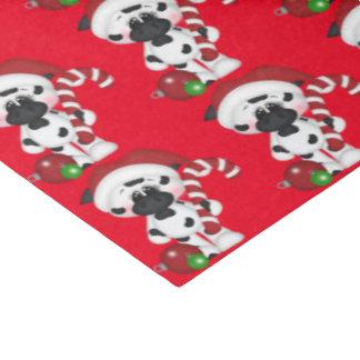 クリスマスのキャンディ・ケーン牛ティッシュペーパー 薄葉紙