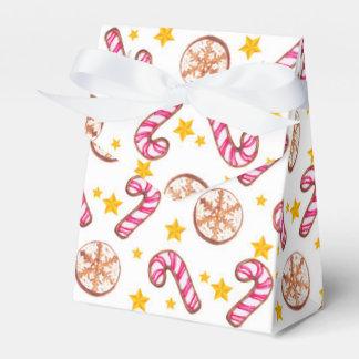 クリスマスのキャンディ・ケーン、星及びクッキーパターン フェイバーボックス