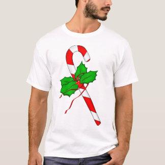 クリスマスのキャンディ・ケーン-赤 Tシャツ