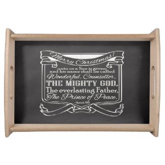 クリスマスのキリスト教の黒板の聖なる書物、経典 トレー