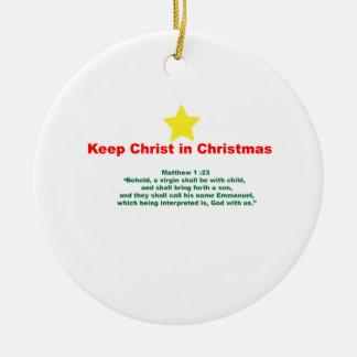 クリスマスのキリスト セラミックオーナメント
