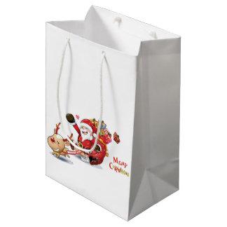 クリスマスのギフトバッグ ミディアムペーパーバッグ
