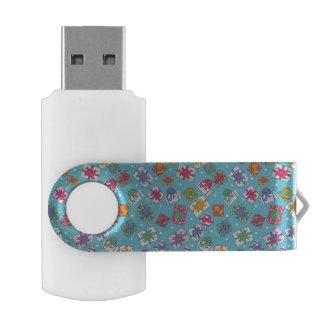 クリスマスのギフトパターン USBフラッシュドライブ