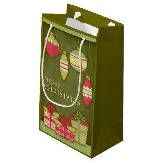 クリスマスのギフト用の箱およびオーナメントのイラストレーション スモールペーパーバッグ